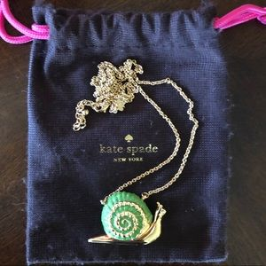 Kate Spade Lawn Party Snail necklace